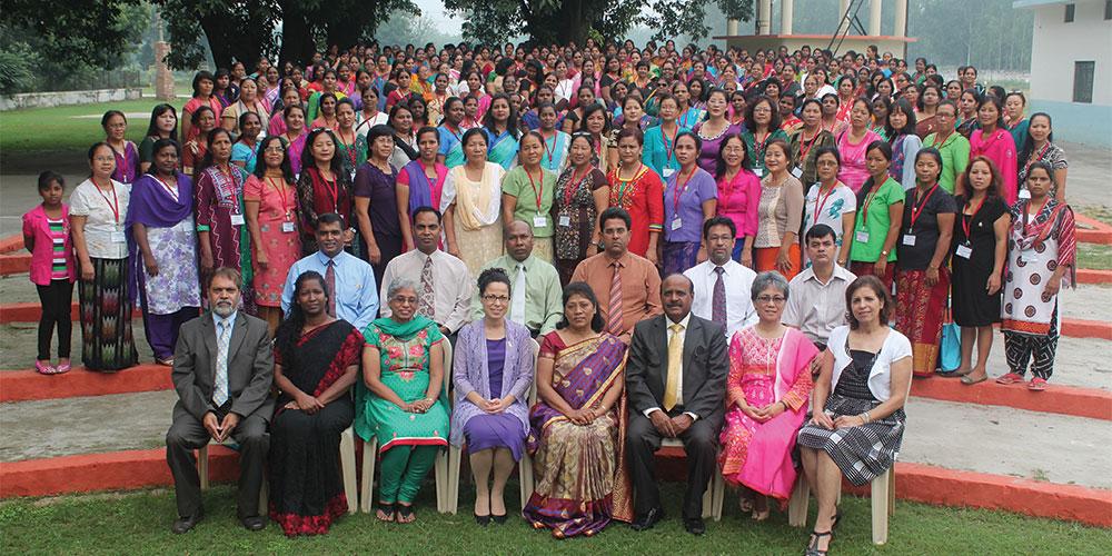 Mais de 300 delegadas participaram do primeiro congresso de mulheres realizado no último quinquênio pela Divisão Sul-Asiática. Crédito: SAD