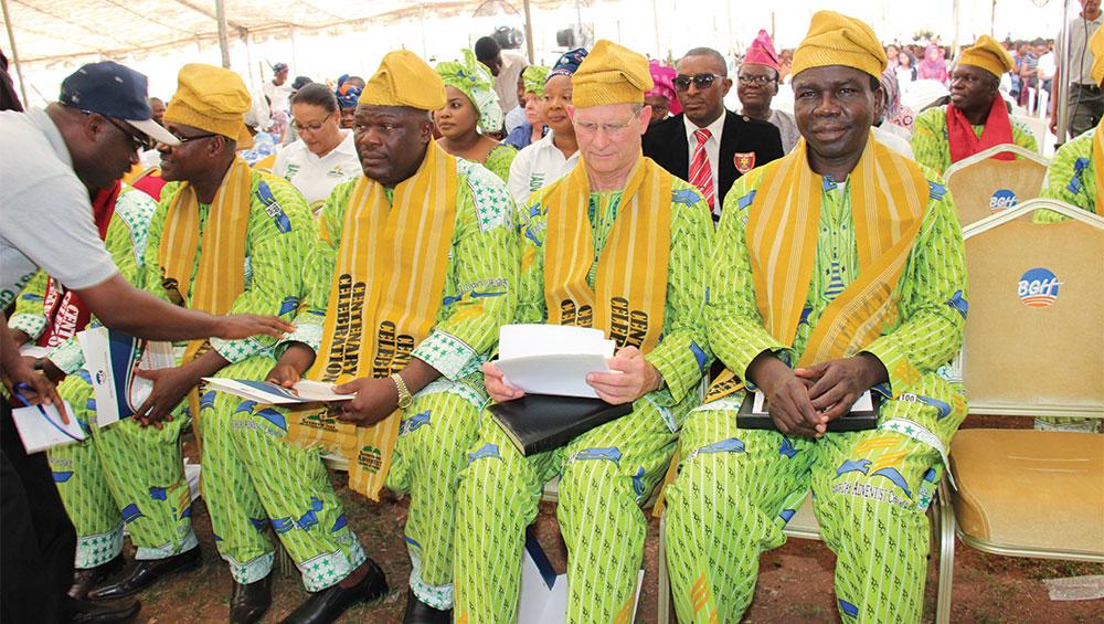 O pastor e presidente da igreja mundial Ted Wilson participa da comemoração do centenário da Igreja Adventista na Nigéria. Crédito: WAD