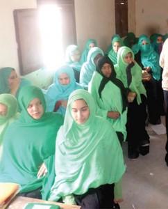 Participantes aprendem como deixar de fumar em um programa dirigido pela Divisão na Mauritânia. Crédito: WAD