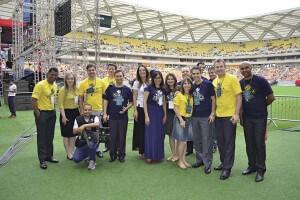 Parte da Equipe da TV Novo Tempo, que enviou 28 pessoas a Manaus. Foto: Diogo Cavalcanti