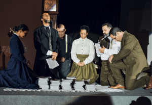 Programa de lançamento do livro missionário no Unasp, organizado pela Casa Publicadora Brasileira,   trouxe encenações sobre a história da imprensa e o papel da literatura para a missão. Foto: William de Moraes