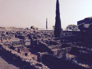 Imagem atual das ruínas de Cafarnaum