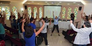 Em nosso século tecnológico, que incentiva a inatividade, o exercício se torna primordial. Assunto foi discutido em congresso que aconteceu no Unasp, campus São Paulo. Foto: Wilson Azevedo