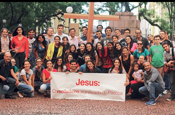 Flash mob realizado em Porto Alegre, na Páscoa de 2014.