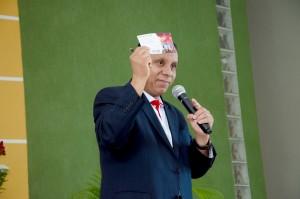 """Evangelista experiente, pastor Luís Gonçalves orientou demais ministros sobre como fazer apelos nos sermões. """"O apelo deve ser sincero, claro e urgente"""", pontuou. Foto: Kátia Nunes"""