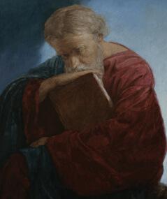 Apóstolo João, o Teólogo, na Ilha de Patmos: quadro pintado pelo russo Andrey Mironov, em 2012. João foi o discípulo mais próximo de Jesus. Imagem: Wikimedia