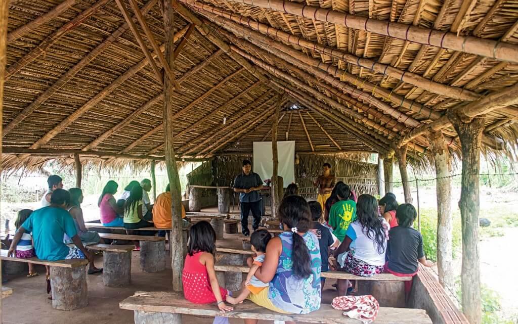 A aldeia Cocal Grande, localizada no Norte do Tocantins, é a maior comunidade adventista na etnia apinajé. Foto: Márcio Tonetti