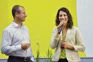 Michelson Borges (revista) e Teru Gouveia (TV) participam de um mesmo programa sobre saúde mental. Foto: Eduardo Olszewski