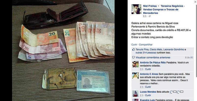 Jovem adventista do Piauí fica famoso no Estado por dar exemplo de honestidade-foto-2-Reprodução do Facebook
