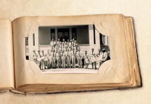 Turma de socorristas- padioleiros do Colégio Adventista Brasileiro em 1956. Créditos: Jerônimo Granero Garcia