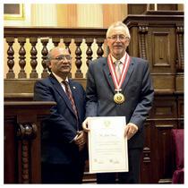 John Graz é homenageado no Congresso Nacional do Peru. Foto: ASN