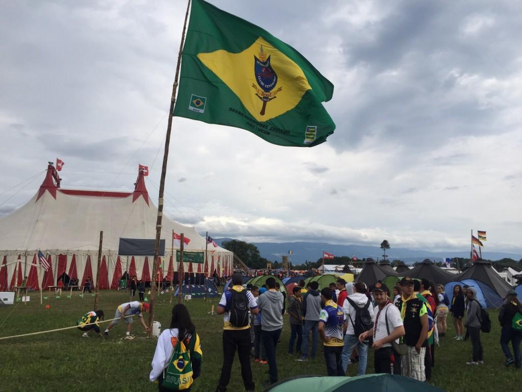 participacao de clube de Goiânia em campori na Suíça