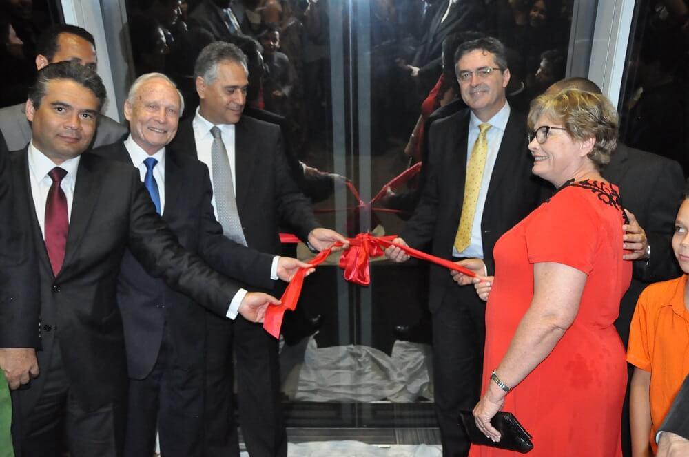 Administradores da Casa Publicadora Brasileira e também prestigiaram o ato inaugural.