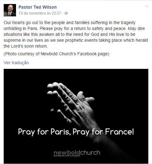 Mensagem do pastor Ted Wilson