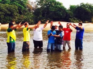 Primeiro nativo da etnia javaé foi batizado em setembro deste ano. Créditos da imagem: Mirando Fag-tahn Oliveira