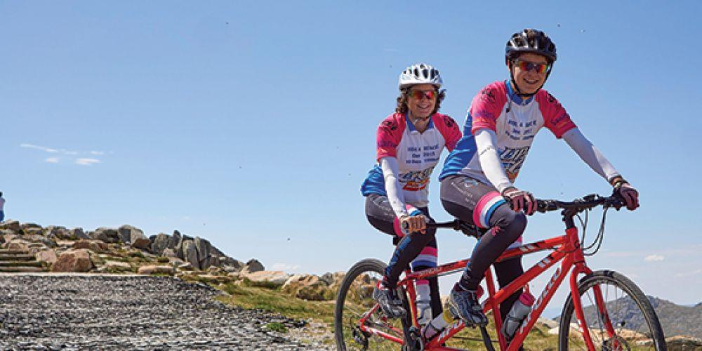 Ciclistas solidários