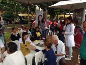 Feira de saúde organizada pelos calebes em Teodoro Sampaio (.
