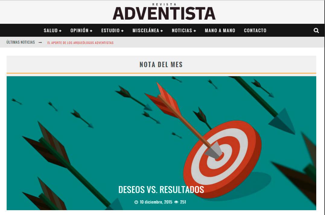 Site da Revista Adventista em Espanhol