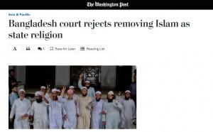Islâmicos comemoram decisão da Suprema Corte de Bangladesh de manter o Islã como religião oficial do Estado. Fato ganhou repercussão na imprensa internacional.
