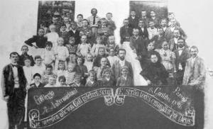 Alunos do colégio internacional - primeira escola do Brasil