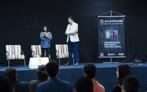 Dra. Magali Cunha, organizadora da Eclesiocom, e o reitor do Unasp, Dr. Martin Kuhn, na abertura da 11ª edição do evento; Créditos: Márcio Tonetti