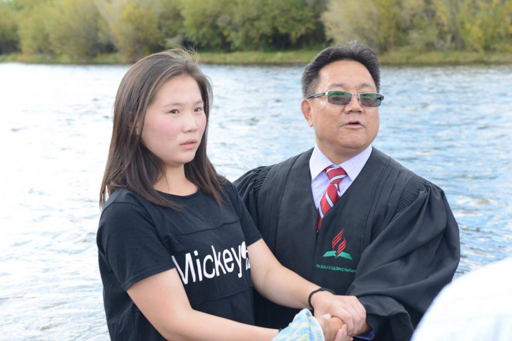 Batismo na Mongólia 7
