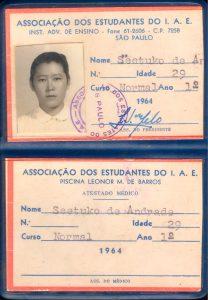 Depois de uma longa interrupção nos estudos, Seetuko Kodowaki de Andrade voltou a cursar a educação básica no Unasp com 29 anos de idade. Créditos da imagem: arquivo pessoal