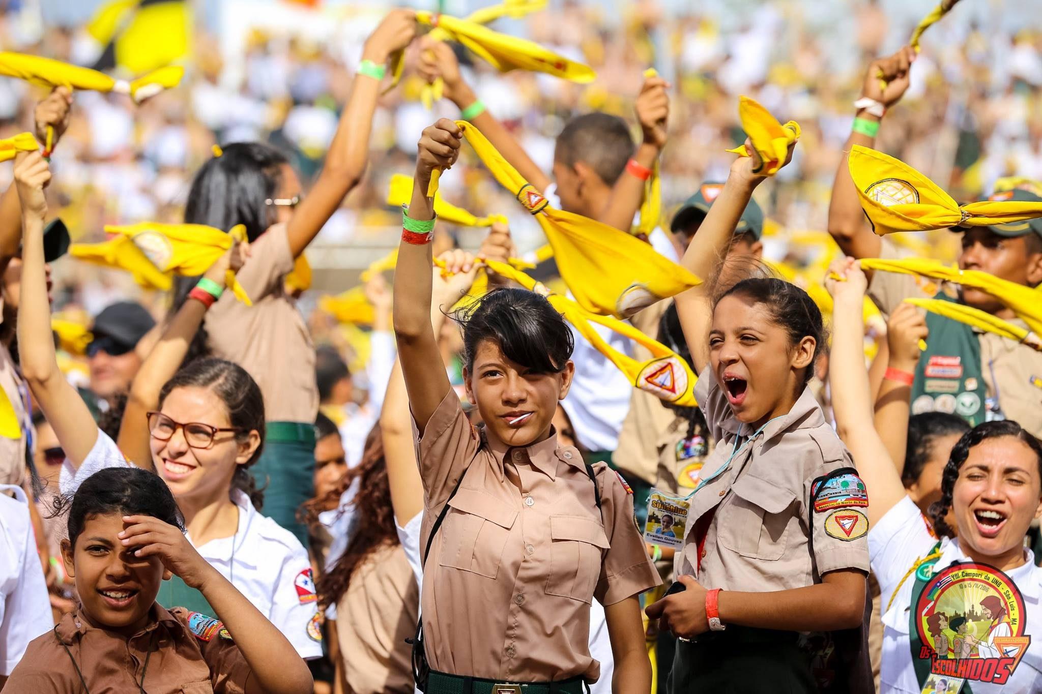 Os desbravadores do Pará, Amapá e Maranhão formaram um verdadeiro exército de juvenis e adolescentes na capita São Luís