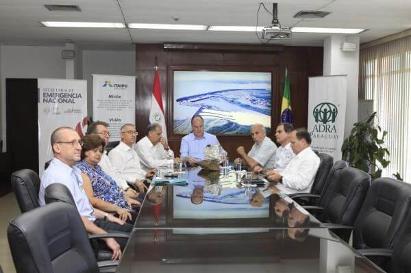 Parceria com o governo Paraguaio